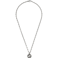 shop for Gucci Interlocking G Aged Silver Necklace at Shopo