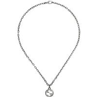shop for Gucci Silver Interlocking G Pendant at Shopo
