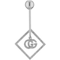 shop for Gucci 18ct Gold Diamond Running G Single Earring at Shopo