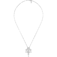 shop for Gucci 18ct White Gold Flora 1.70ct Necklace at Shopo