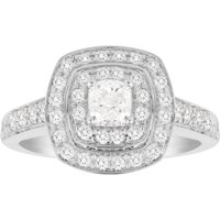 shop for Jenny Packham Cushion Cut 1.20 Carat Total Weight Double ... at Shopo