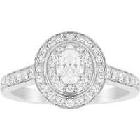 shop for Jenny Packham Oval Cut 0.70 Carat Total Weight Double Hal ... at Shopo