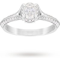 shop for Jenny Packham Oval Cut 0.56 Carat Total Weight Solitaire ... at Shopo