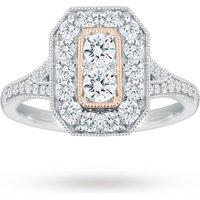 Jenny Packham 18 Carat White Gold 0.90 Carat Diamond Ring ...