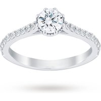 Image of Jenny Packham Platinum 0.75 Carat Diamond 8 Claw Single Stone Ring - Ring Size P