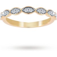 Jenny Packham 18ct Yellow Gold 0.14cttw Band Ring - Ring Size L