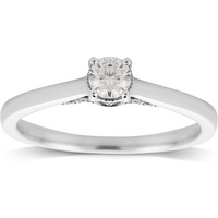 Jenny Packham 18ct White Gold 0.33ct Diamond Ring - Ring Size L