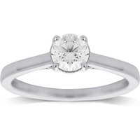 shop for Jenny Packham 18ct White Gold 0.65ct Diamond Ring - Ring Size K at Shopo