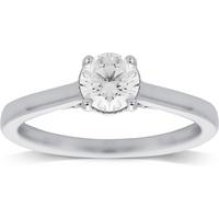shop for Jenny Packham 18ct White Gold 0.65ct Diamond Ring - Ring Size N at Shopo