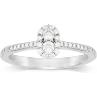 Jenny Packham 18ct White Gold 0.33ct Flower Cluster Diamond Ring