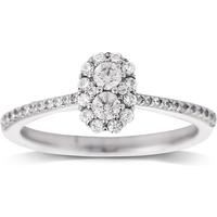 shop for Jenny Packham 18ct White Gold 0.50ct Flower Cluster Diamond Ring at Shopo