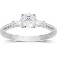 shop for Jenny Packham 18ct White Gold 0.75ct Diamond Ring - Ring Size N at Shopo