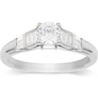 shop for Jenny Packham 18ct White Gold 0.75ct Diamond Ring - Ring Size K at Shopo