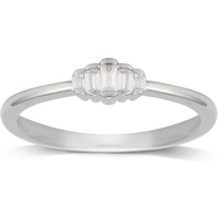 shop for Jenny Packham 9ct White Gold 0.10ct Diamond Ring - Ring Size N at Shopo