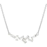 shop for Jenny Packham 9ct White Gold 0.16cttw Baguette Necklace at Shopo