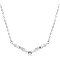 shop for Jenny Packham 9ct White Gold 0.13cttw Baguette Necklace at Shopo