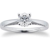 shop for Jenny Packham 18ct White Gold 1.00cttw Brilliant Cut Diamond Ring - Ring Size M at Shopo