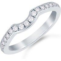 shop for Mappin & Webb Platinum 0.22cttw Diamond Boscobel Wedding Ring at Shopo