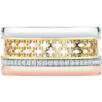 shop for Birks Iconic Double Stacked 0.29ct Diamond Ring - Ring Size O at Shopo