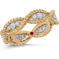 shop for Roberto Coin New Barocco 18ct Yellow Gold 0.48ct Diamond - Rings Size M at Shopo