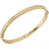 Roberto Coin Princess 18ct Yellow Gold Diamond Princess Bangle