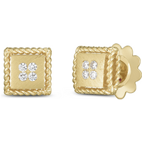shop for Roberto Coin Palazzo Ducale 18ct Yellow Gold Diamond Stud Earrings at Shopo