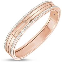 Roberto Coin 18ct Rose Gold Portofino Diamond Set Bangle