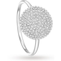 Astley Clarke Icon Ring White - Ring Size L