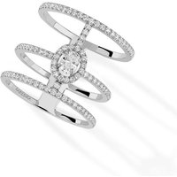 Messika GlamAzone Three Row Diamond Ring in - Ring Size N