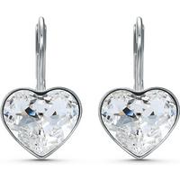 SWAROVSKI Bella Heart Pierced Rhodium Plated Earrings