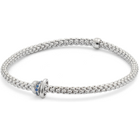 shop for Exclusive Fope Flex'it White Gold Sapphire Prima Bracelet at Shopo