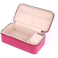 Fushia Leather Jewellery Case