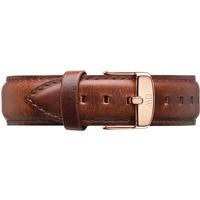 shop for Daniel Wellington Brown Leather Replacement Strap 0306DW at Shopo