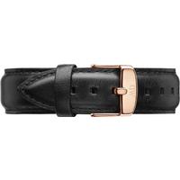 shop for Daniel Wellington Black Leather Replacement Strap 0307DW at Shopo