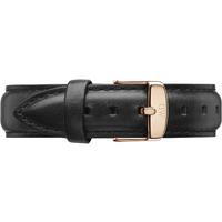 shop for Daniel Wellington Black Leather Replacement Strap 0708DW at Shopo