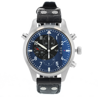 Pre-Owned IWC Pilots Double Chronograph Mens Watch