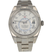Pre-Owned Rolex Sky-Dweller 18ct White Gold Mens Watch 326939 Circa 2013