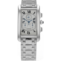 Pre-Owned Cartier Tank Americaine Mens Watch W26033L1/ 2312