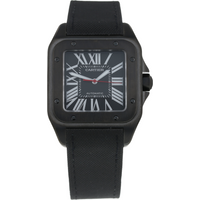 Pre-Owned Cartier Santos 100 Carbon Mens Watch WSSA0006/ 3774