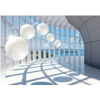 CONSALNET Vliestapete 3D Corridor mit Fenster, verschiedene Motivgrößen, für das Büro oder Wohnzimmer
