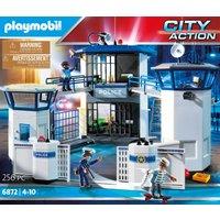 Playmobil Konstruktions-Spielset Polizei-Kommandozentrale mit Gefängnis (6872), City Action, (256 St.), Made in Germany