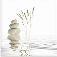 Artland Glasbild Zen Friede
