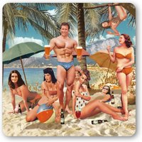 LOGOSHIRT Untersetzer mit Beach Party-Print