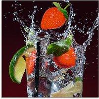 Artland Glasbild Frischer Fruchtcocktail III, Getränke, (1 St.)