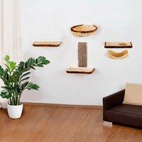 SILVIO design Katzen-Kletterwand, hoch, 6-tlg.