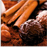 Artland Glasbild Schokoladen-Trüffel