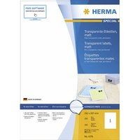 Herma transp. Etiketten 210X297 100 Blatt DIN A4 100 Stück 4376