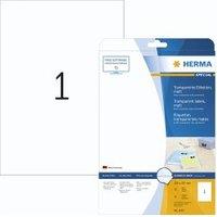 Herma transp. Etiketten 210X297 25 Blatt DIN A4 25 Stück 4375