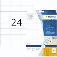 Herma transp. Etiketten 70x37 25 Blatt DIN A4 600 Stück 4685