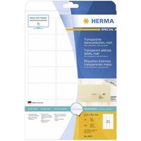 Herma Adressetik. matt 63,5x38,1 25 Blatt 525 Stück transp. 8670